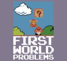 First World Problems (White) Kids Tee