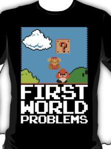 First World Problems (White) T-Shirt