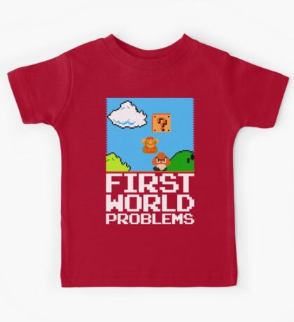 First World Problems (White) Kids Clothes