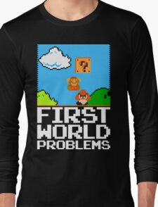 First World Problems (White) Long Sleeve T-Shirt