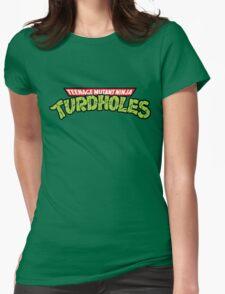 Teenage Mutant Ninja Turdholes Womens Fitted T-Shirt