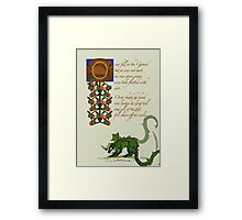 Zapfino Version - Oscar Fell to the Ground 6 Framed Print