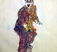 Elton John Watercolor by cmerritt01