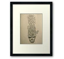 Pineapple Head Framed Print