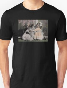 GIRL WITH COLLIE Unisex T-Shirt