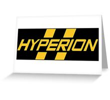 Hyperion Yellow Greeting Card