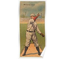 Benjamin K Edwards Collection Joseph McGinnity Lewis McCarty Newark Team baseball card portrait Poster