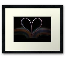 Book of Love Framed Print