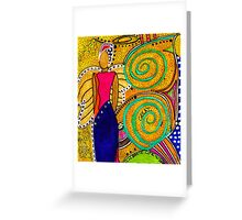 SPARKLE The Angel of Twinkling Thoughts Greeting Card
