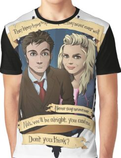 Rose and the 10th Doctor - Doctor Who Graphic T-Shirt