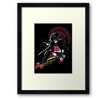 Black Flame Shana Framed Print
