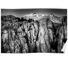 Peaks Over Cliffs Poster