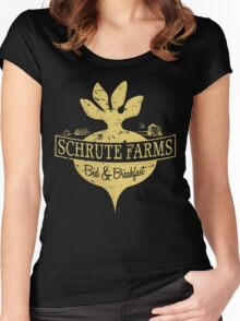Schrute Farms B&B (no circles) Women's Fitted Scoop T-Shirt