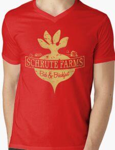 Schrute Farms B&B (no circles) Mens V-Neck T-Shirt