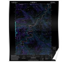 USGS Topo Map Oregon OR Troy 281881 1995 24000 Inverted Poster