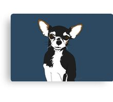 Zoe the Chihuahua Cartoon Portrait Canvas Print