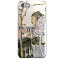 Two Men in Conversation Not Looking at Each Other iPhone Case/Skin