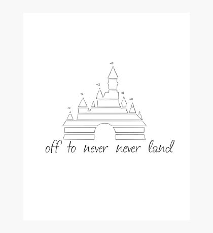 never never land Photographic Print