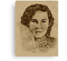 1930's Lady with Scarf Canvas Print