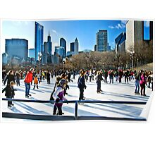 Chicago's Other Popular Outdoor Ice Rink Poster