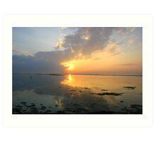 Sunrise at Sanur Beach Art Print