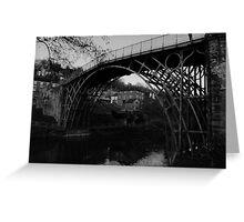 Iron Bridge B&W Greeting Card