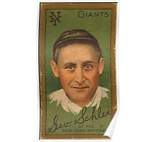 Benjamin K Edwards Collection George H Schlei New York Giants baseball card portrait Poster