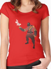 TF2 - RED Pyro / Pyrovision Women's Fitted Scoop T-Shirt