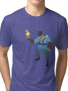 TF2 - BLU Pyro  Tri-blend T-Shirt