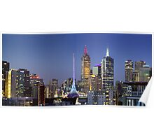 Melbourne City Lights Poster
