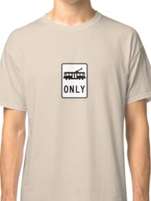Tram Only - Small White Background Classic T-Shirt