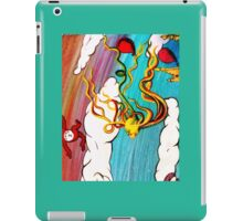 Whimseussical Flying Fish Painting Happy Skies Joyful Clouds iPad Case/Skin
