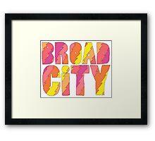 BROAD CITY FIL TV SERIES Framed Print