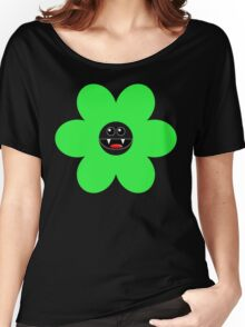 SAVAGE FLOWER GREEN Women's Relaxed Fit T-Shirt