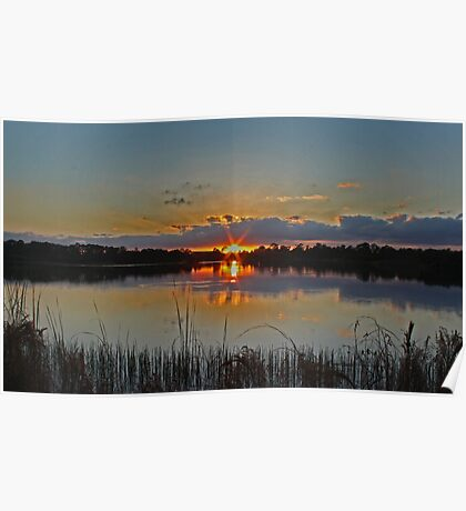 sunset rays Poster