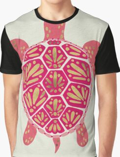 Pink & Gold Sea Turtle Graphic T-Shirt