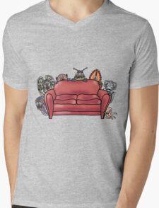 Behind the sofa Mens V-Neck T-Shirt