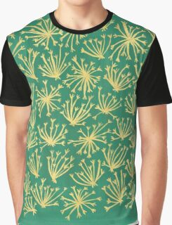 Queen Anne's Lace in Gold & Green Graphic T-Shirt
