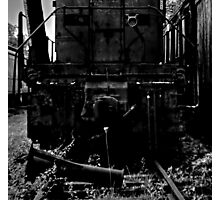 Single Flower, Abandoned Train Photographic Print