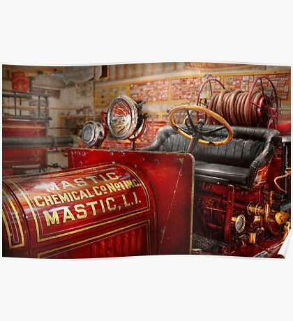 Fireman - Mastic chemical co Poster