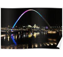Millennium Bridge - Newcastle/Gateshead Poster