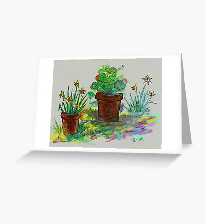 Watercolor - Ode to Spring Greeting Card