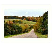Rolling Hills and Cow Fields of Prince Edward Island Art Print