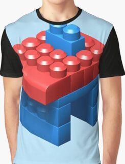 3D Little House Graphic T-Shirt