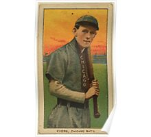Benjamin K Edwards Collection Johnny Evers Chicago Cubs baseball card portrait 001 Poster