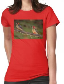 Pair of Black-Cheeked Woodpeckers Womens Fitted T-Shirt