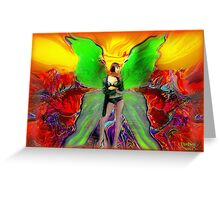 *Butterfly Wing's of Emerald green* Greeting Card