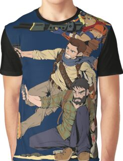 Naughty Dog - Drake, Joel, Jak Graphic T-Shirt