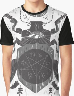Spilling Time - Beetle Two - Grey Graphic T-Shirt