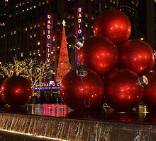 New York city at night during Christmas holiday 1 by Anton Oparin